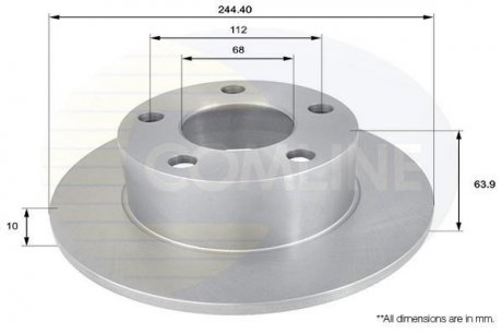 ADC1427 COMLINE Тормозной диск